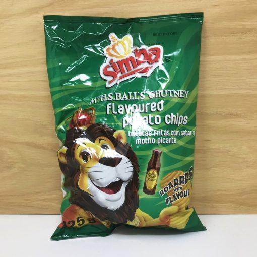 Simba Mrs Balls Chutney flavour chips