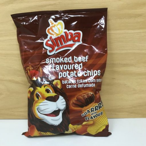 Simba Smoked Beef flavour chips