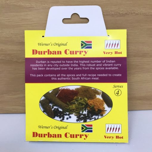 Werners Durban Curry Spice - Verry Hot